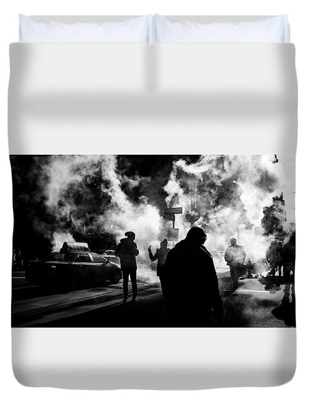 Behind The Smoke Duvet Cover
