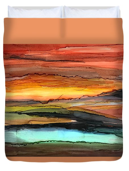 Behind The Sun Duvet Cover