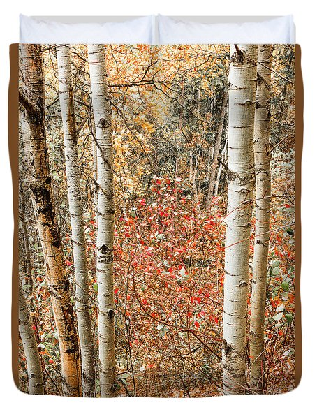Behind The Trees Duvet Cover