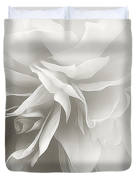Duvet Cover featuring the photograph Behind The Veil by Darlene Kwiatkowski