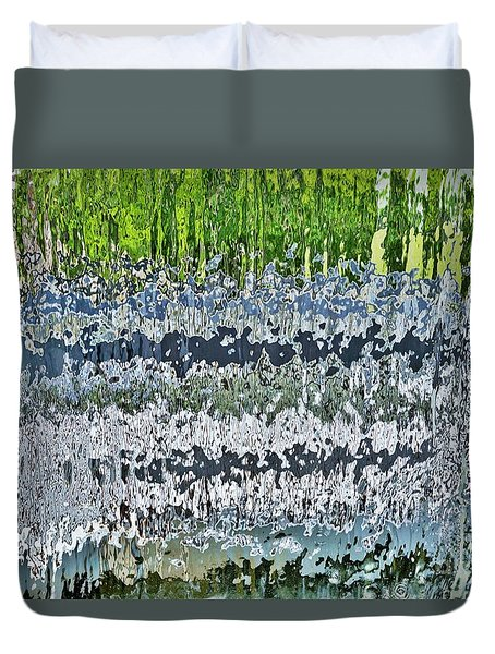 Behind The Waterfall Duvet Cover