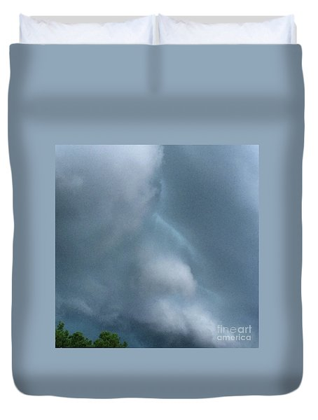 Behold He Cometh With Clouds Duvet Cover