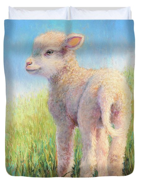 Behold The Lamb Duvet Cover