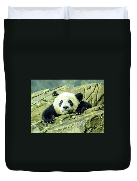 Bei Bei Panda At One Year Old Duvet Cover