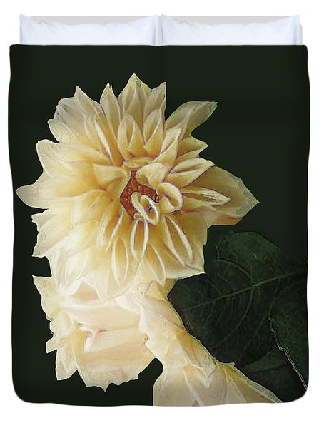 Beige Bold And Beautiful Duvet Cover by RC DeWinter