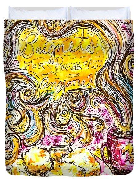 Beignets For Breakfast Duvet Cover