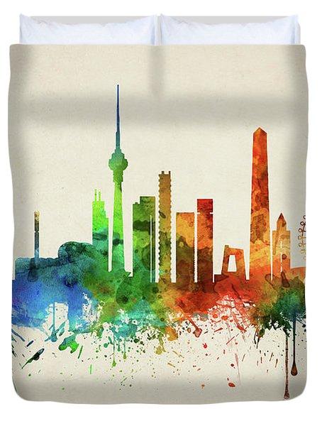 Beijing Skyline Chbj05 Duvet Cover