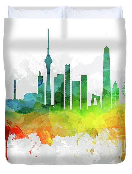 Beijing Skyline Mmr-chbj05 Duvet Cover