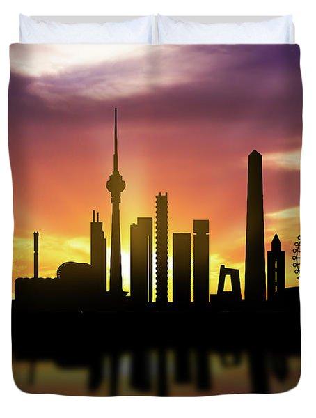Beijing Skyline Sunset Chbj22 Duvet Cover
