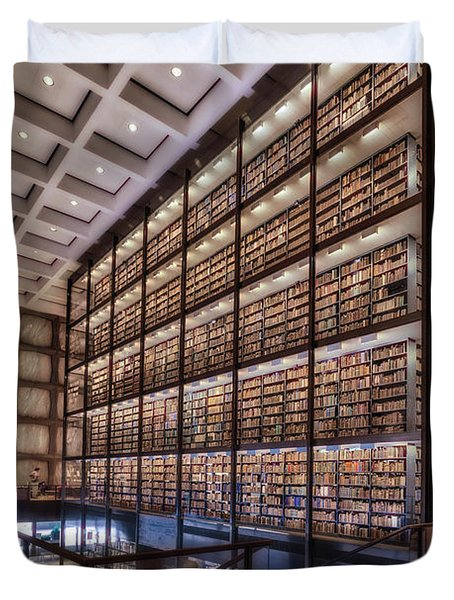 Beinecke Rare Book And Manuscript Library Duvet Cover