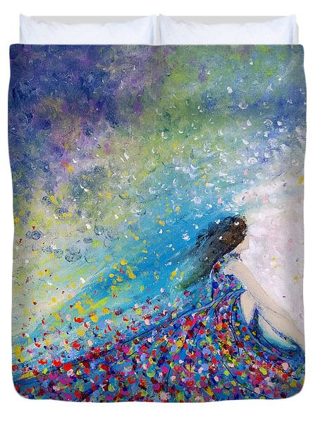 Being A Woman - #5 In A Daydream Duvet Cover by Kume Bryant