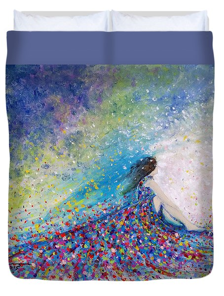 Being A Woman - #5 In A Daydream Duvet Cover