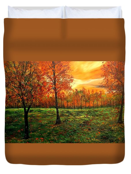 Being Thankful Duvet Cover