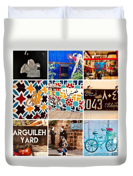 Beirut Colorful Life Duvet Cover