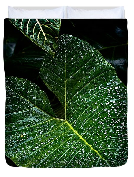 Bejeweled Leaf Duvet Cover by Christopher Holmes