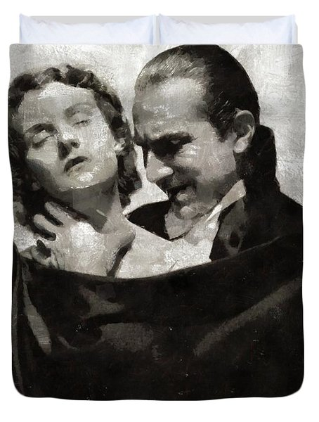 Bela Lugosi And Helen Chandler, Dracula Duvet Cover