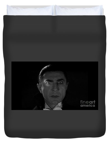 Bela Lugosi  Dracula 1931 And His Piercing Eyes Duvet Cover