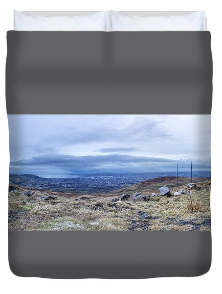 Belfast Lough From Divis Mountain Duvet Cover