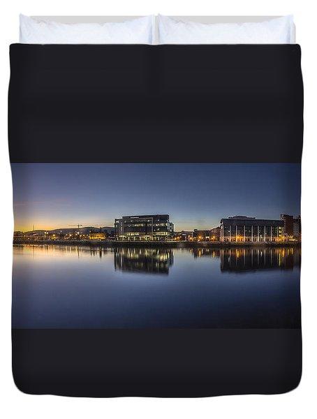 Belfast Near The Docks Duvet Cover