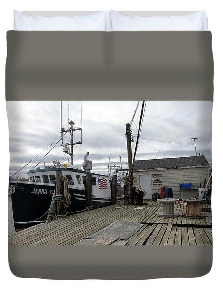 Belford Nj Fishing Port Duvet Cover