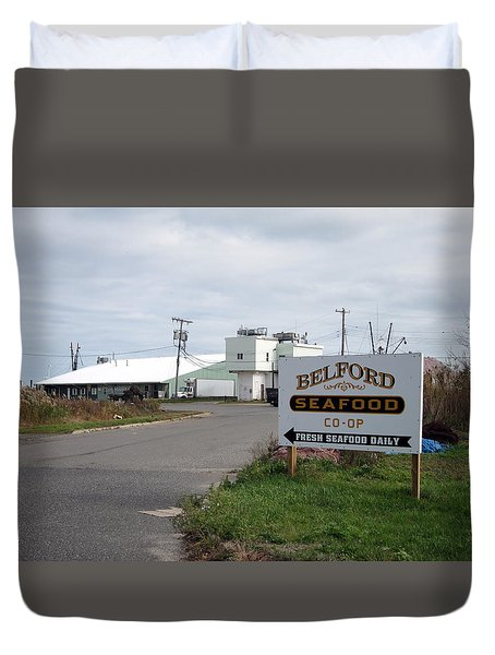 Belford Seafoood Nj Duvet Cover