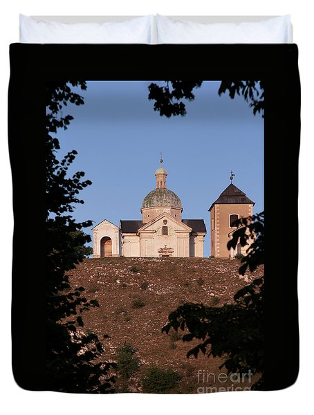 Duvet Cover featuring the photograph Belfry And Chapel Of Saint Sebastian by Michal Boubin
