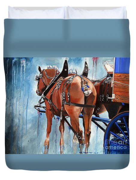 Belgian Blues Duvet Cover