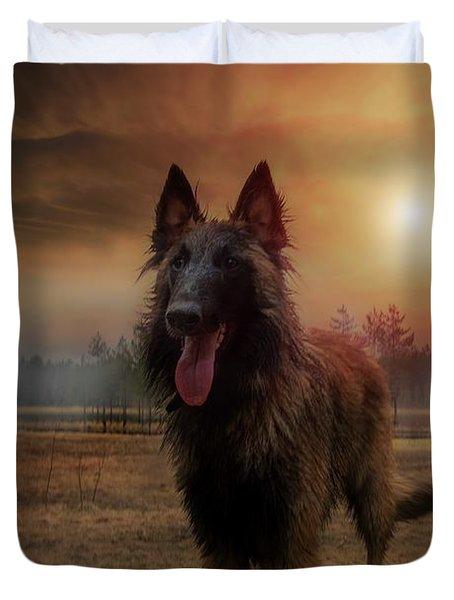 Belgian Shepherd Duvet Cover by Rose-Marie Karlsen