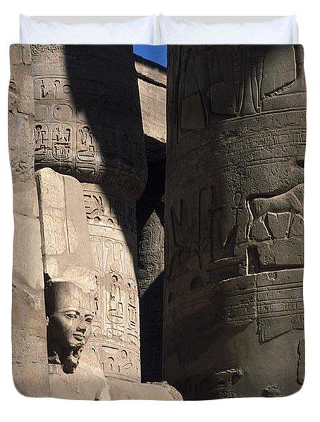 Belief In The Hereafter - Luxor Karnak Temple Duvet Cover