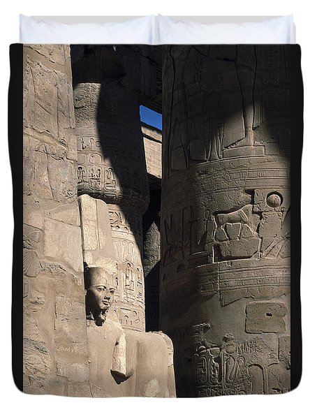 Belief In The Hereafter - Luxor Karnak Temple Duvet Cover