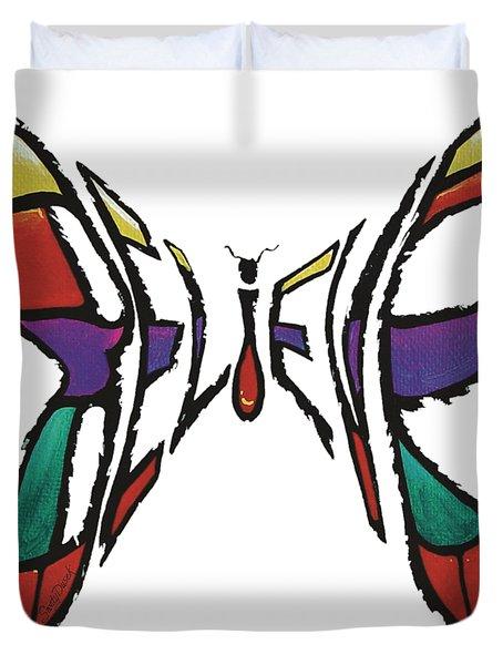 Believe-butterfly Duvet Cover