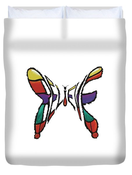 Believe-butterfly Duvet Cover
