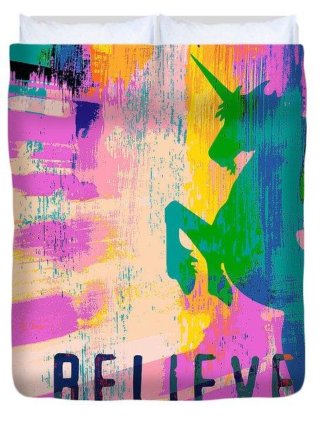 Believe In Unicorns Duvet Cover