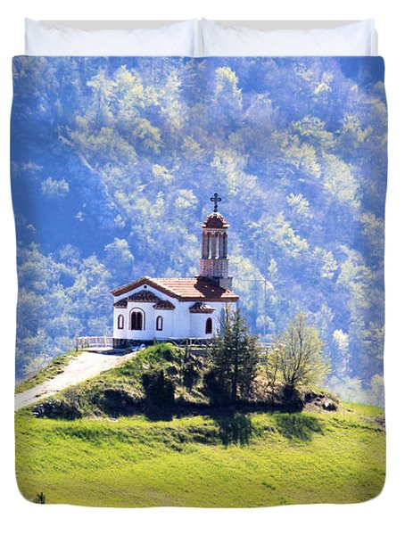 Duvet Cover featuring the photograph Believe by Milena Ilieva