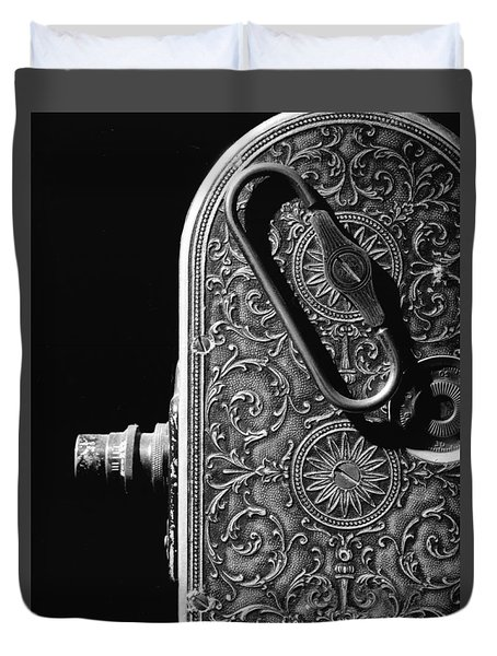 Duvet Cover featuring the photograph Bell And Howell Camera by Jim Mathis