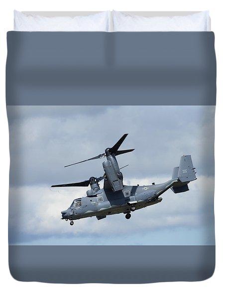 Bell/boeing Cv-22b Osprey Duvet Cover by Paul Scoullar