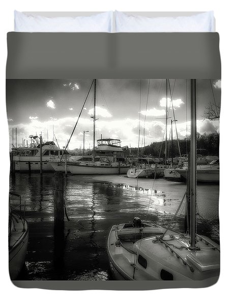 Bell Haven Docks Duvet Cover