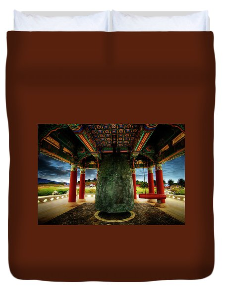 Duvet Cover featuring the photograph Bell Of Friendship 2 by Joseph Hollingsworth