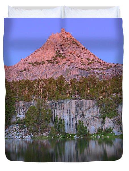Bell Peak Alpenglow Duvet Cover