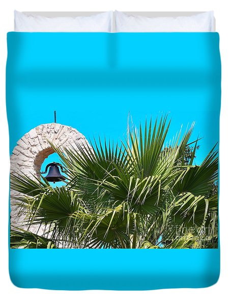 Duvet Cover featuring the photograph Bell by Ray Shrewsberry