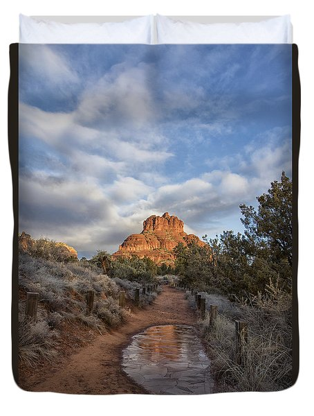 Bell Rock Beckons Duvet Cover