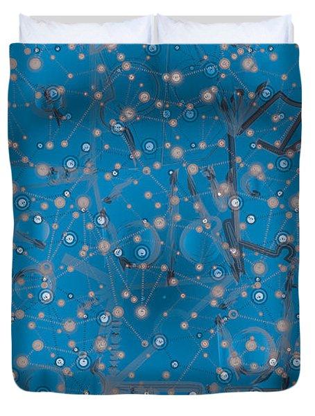 Bell-shaped Flowers Duvet Cover by Moustafa Al Hatter
