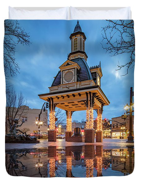 Bell Tower  In Beaver  Duvet Cover