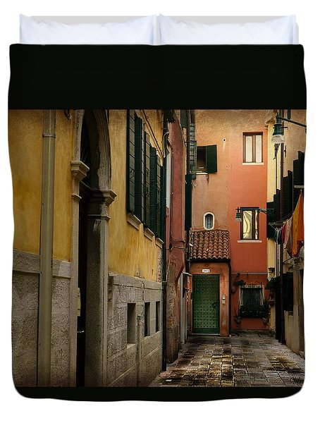 Duvet Cover featuring the photograph Bella Italia by Uri Baruch