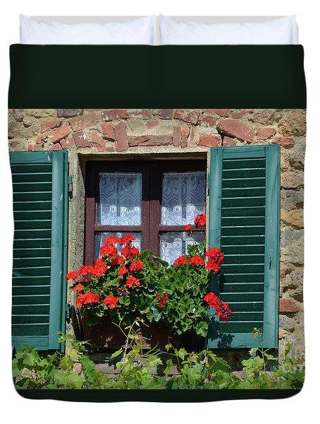 Bella Italian Window  Duvet Cover