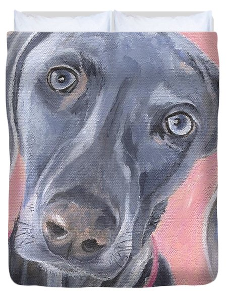 Duvet Cover featuring the painting Bella by Jamie Frier