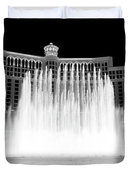 Duvet Cover featuring the photograph Bellagio by Eric Christopher Jackson