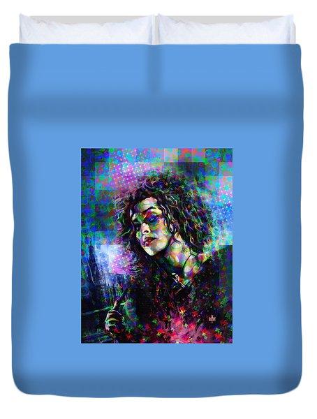 Bellatrix Lestrange Halftone Portrait Duvet Cover