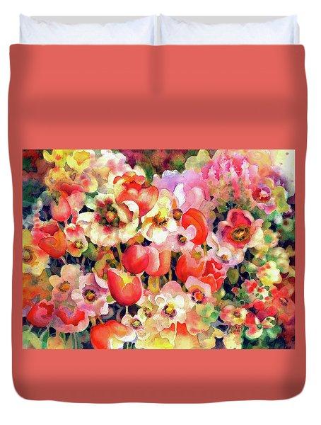Belle Fleurs II Duvet Cover
