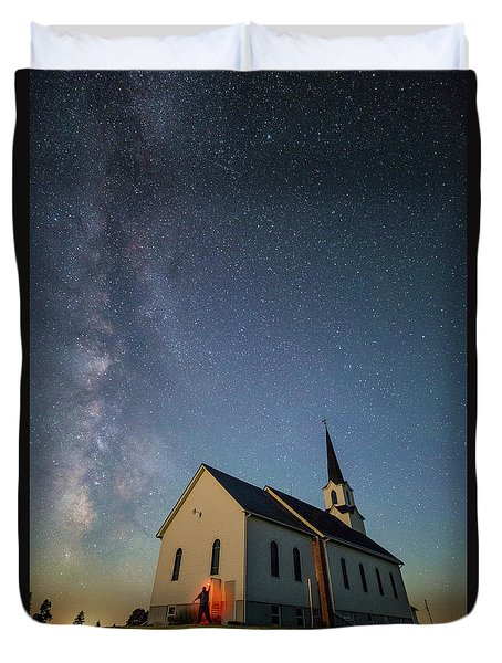 Duvet Cover featuring the photograph Belleview Selfie  by Aaron J Groen